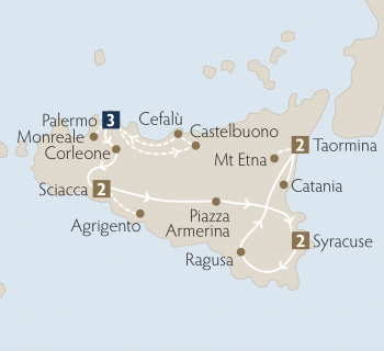 Package Tour Map